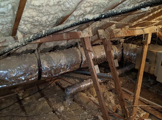 Blown Cellulose Insulation in Rincon, GA - Before Photo