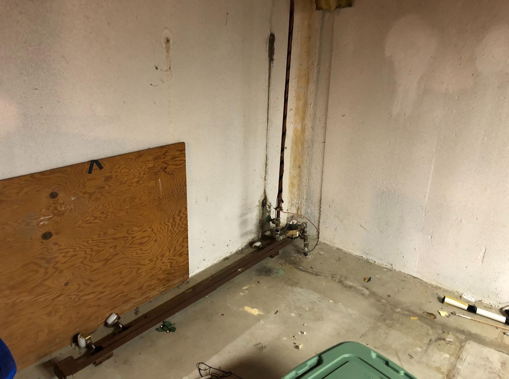 Pontiac, MI Basement Waterproofing - Before Photo