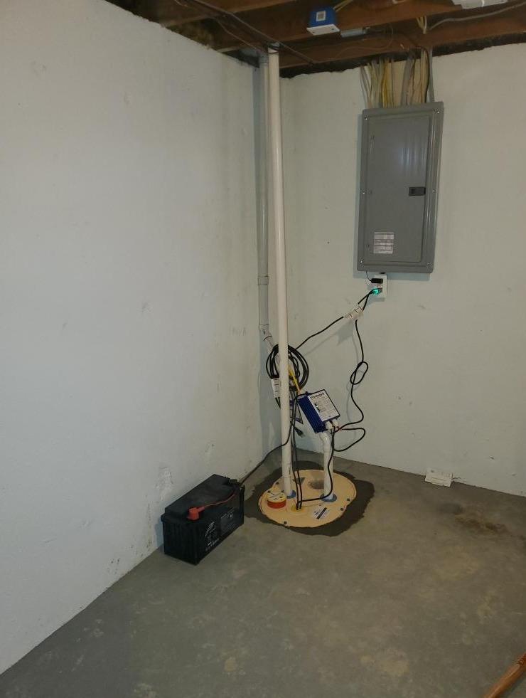 Keego Harbor, Michigan Sump Pump Installation - After Photo