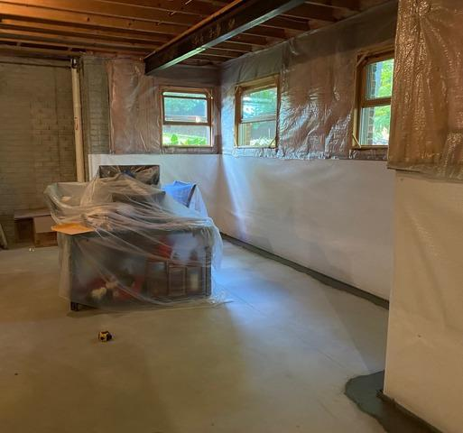 New Hudson, MI Basement Waterproofing Before Finishing