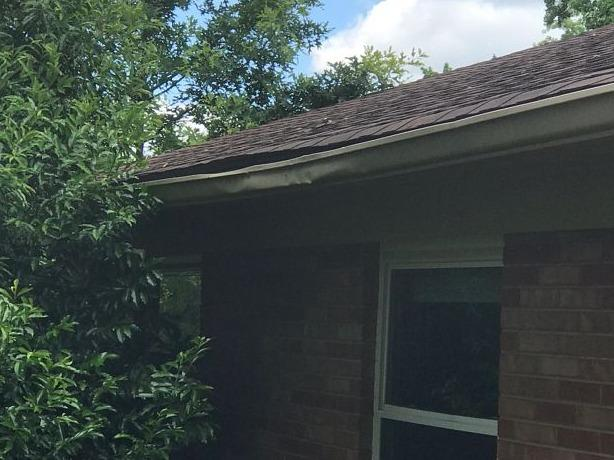 Installing Gutters in Knoxville, TN - Before Photo