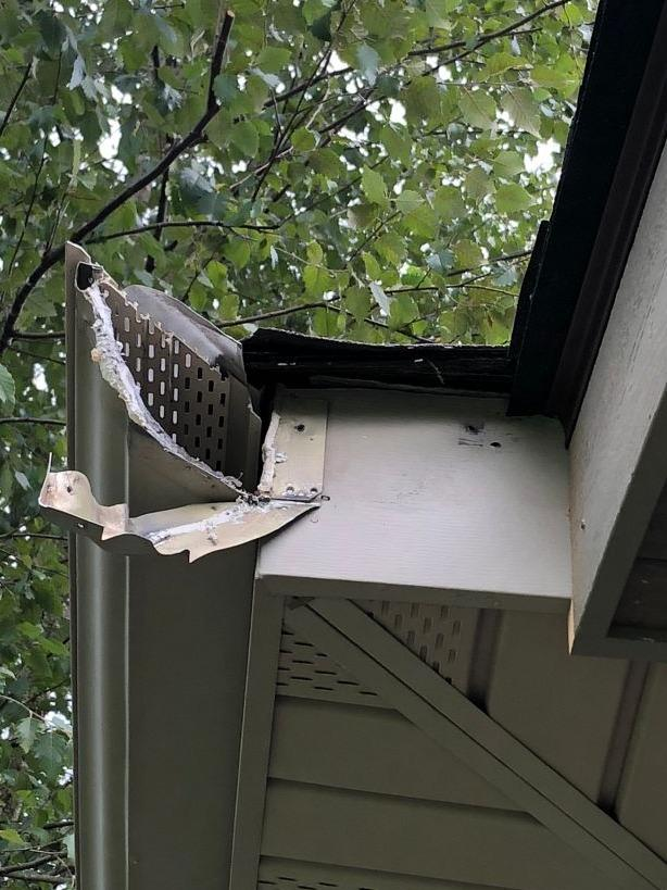 Installing Durable New Gutters in Jefferson City, TN - Before Photo