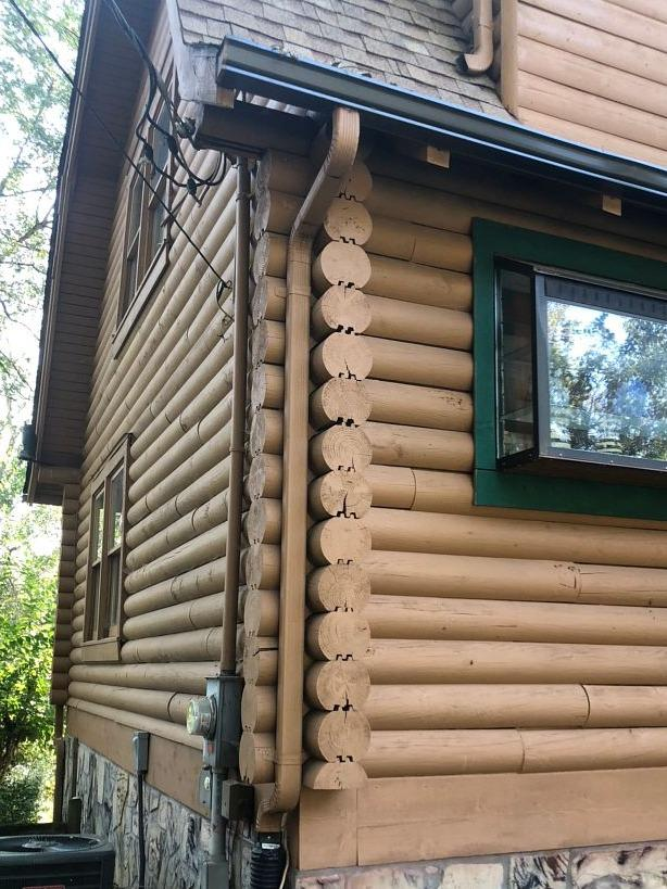New Gutters for Vacation Cabin in Sevierville, TN - Before Photo