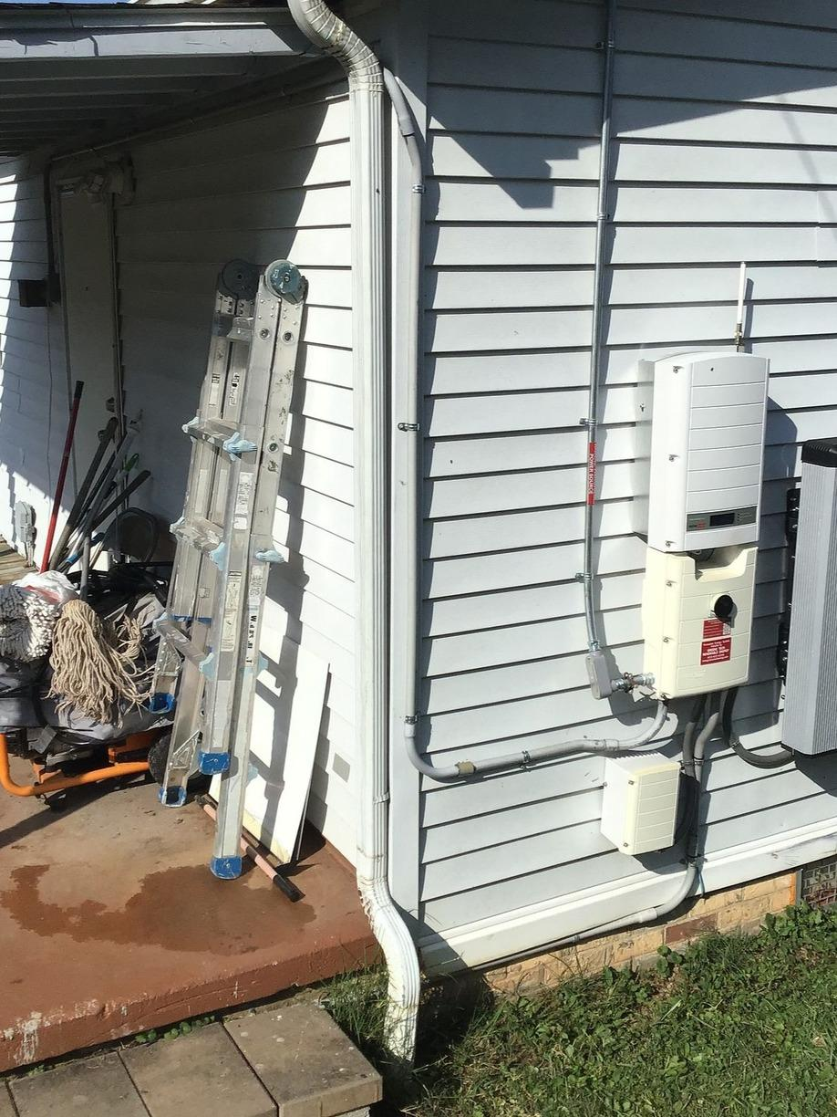 Replacing Old Gutters with Brand-New Ones in Washburn, TN - Before Photo
