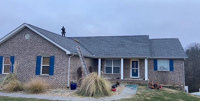 Replacing a Stained, Old Roof Near Alcoa, TN