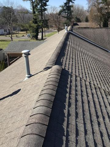 Before and After Roof Replacement in Clinton, TN