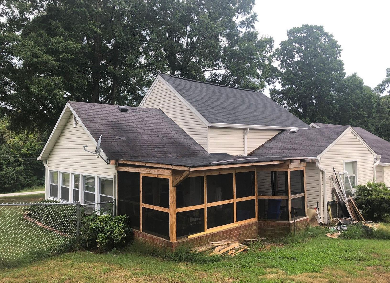 Old Damaged Shingle Roof Replacement in Winston-Salem, NC - Before Photo
