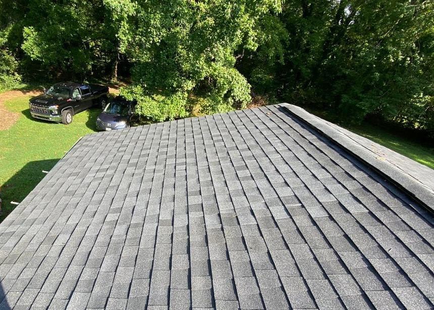 Patching Over Damaged Roof with Architectural Shingles in Greensboro, NC - After Photo