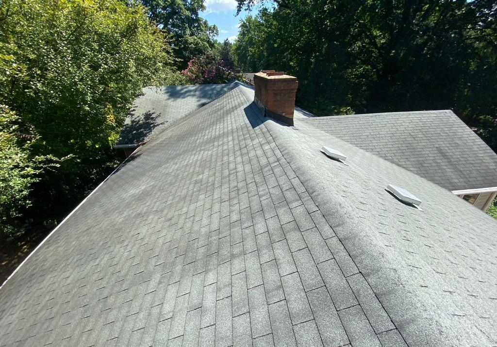 Re-roofing Old Failing Roof in Greensboro, NC - Before Photo