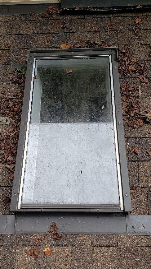 Replacing Old Leaking Skylights in Summerfield, NC - Before Photo