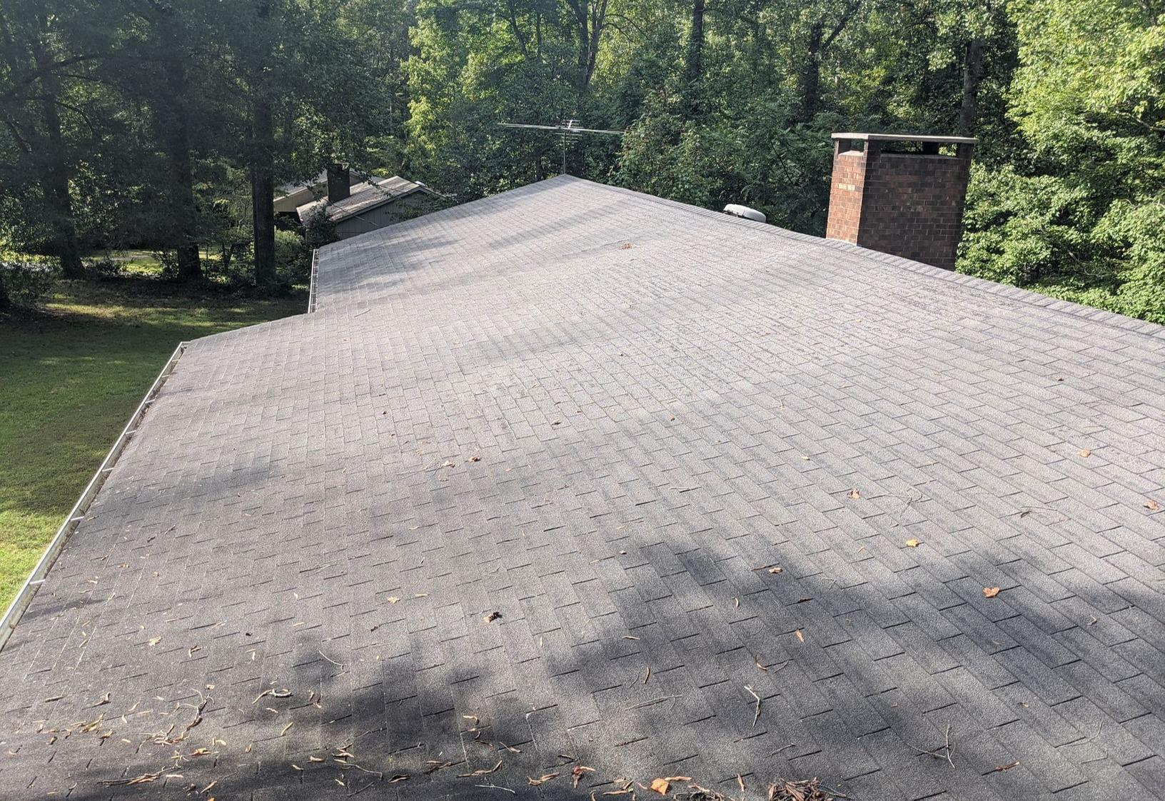 Replacing Old Weathered Roof in Oak Ridge, NC - Before Photo
