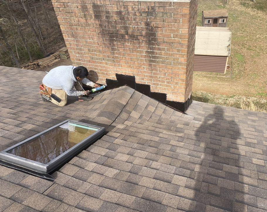 Replacing Roof and Chimney Flashing in Greensboro, NC - After Photo