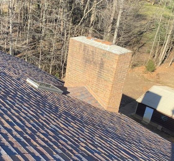 Replacing Roof and Chimney Flashing in Greensboro, NC - Before Photo