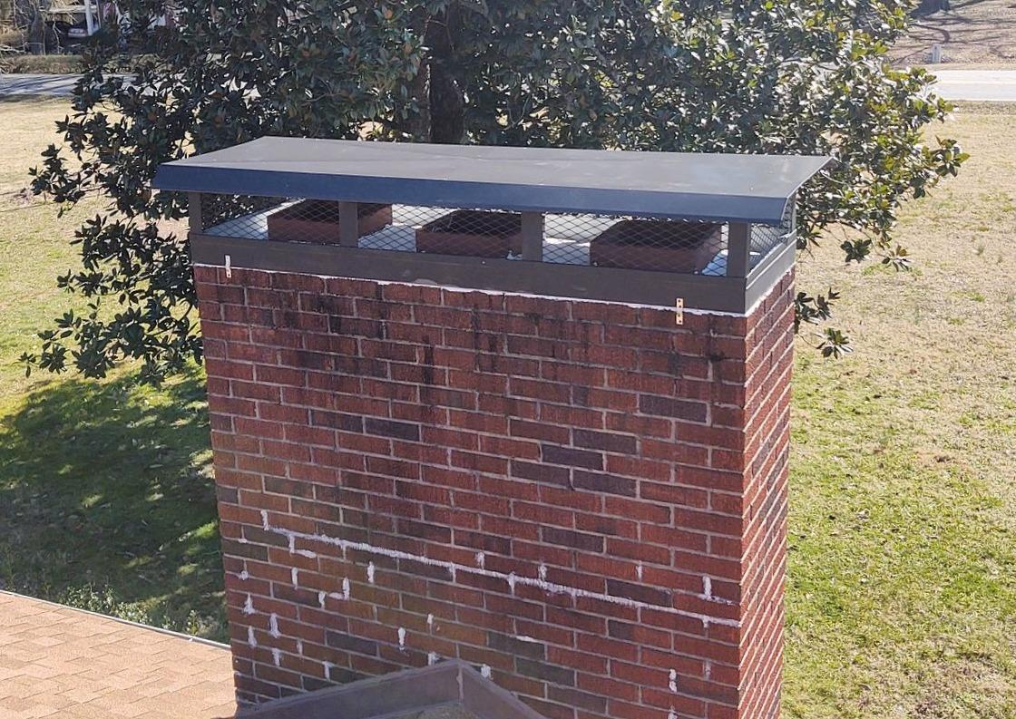 Repairing Old Chimney Sealant and Chimney Cap in Stoneville, NC - After Photo