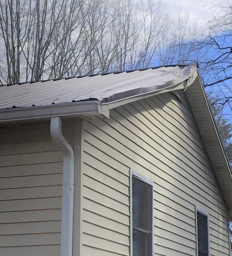 Emergency Repair on Storm Damaged Roof in Reidsville, NC - Before Photo