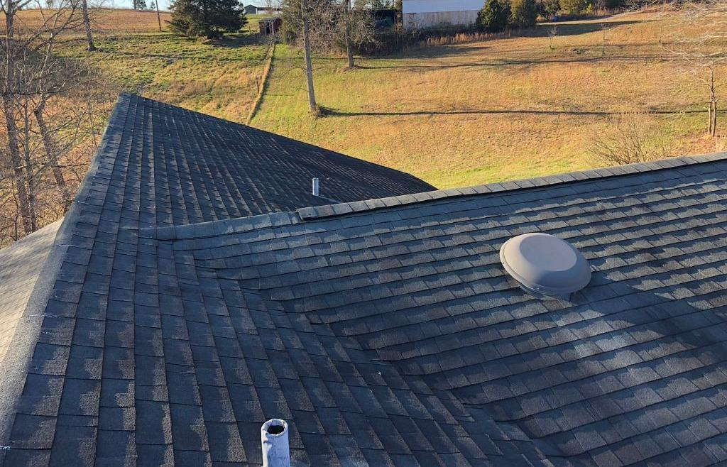 Tattered Roof Replacement in Germanton, NC - Before Photo