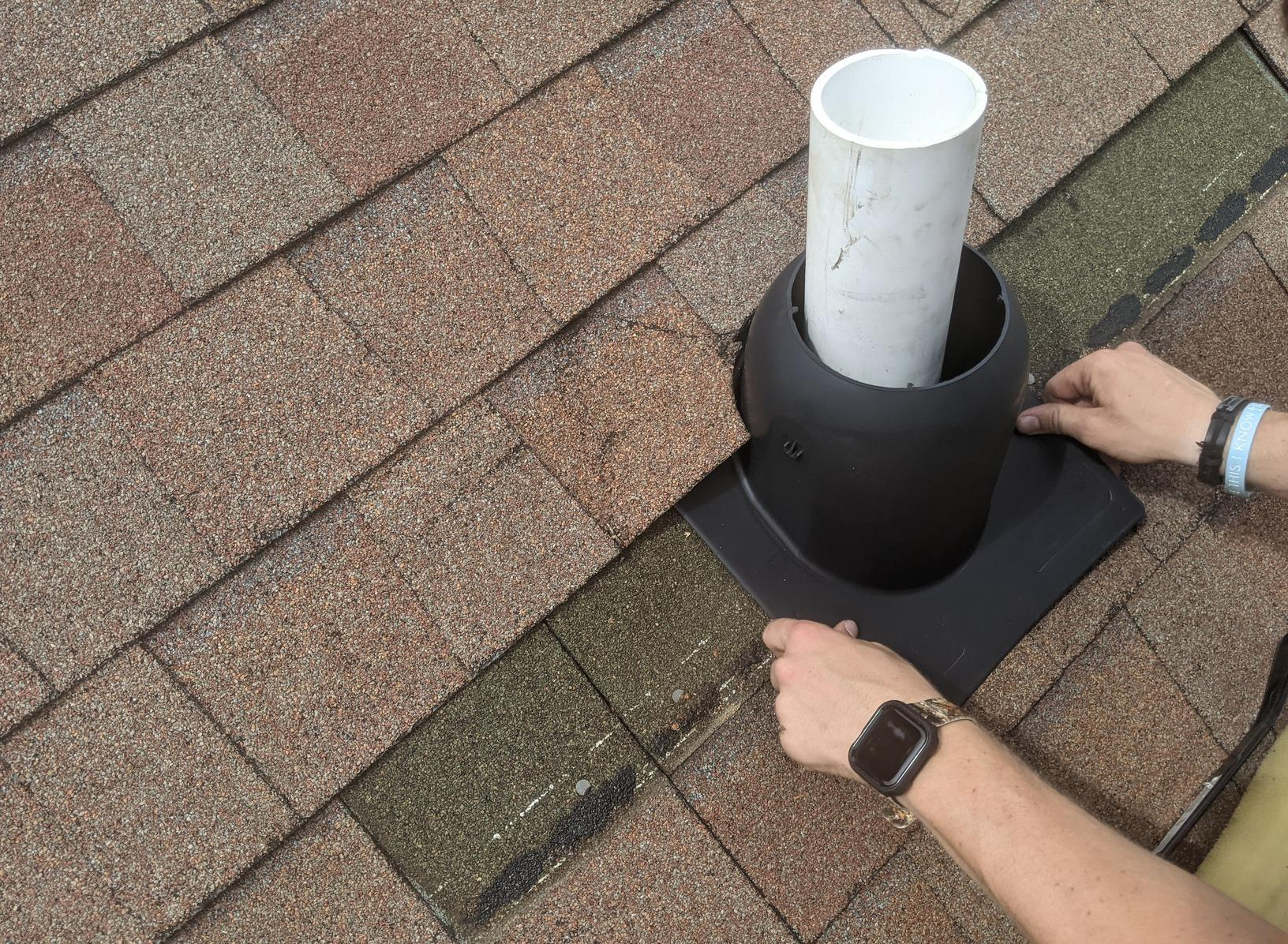 Replacement of Vent Pipe Boot in Greensboro, NC - Before Photo