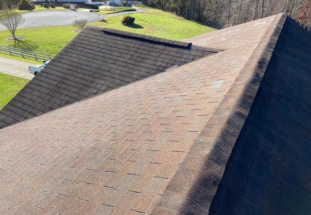 Repairing Roof and Ridge Vent in Rural Hall, NC