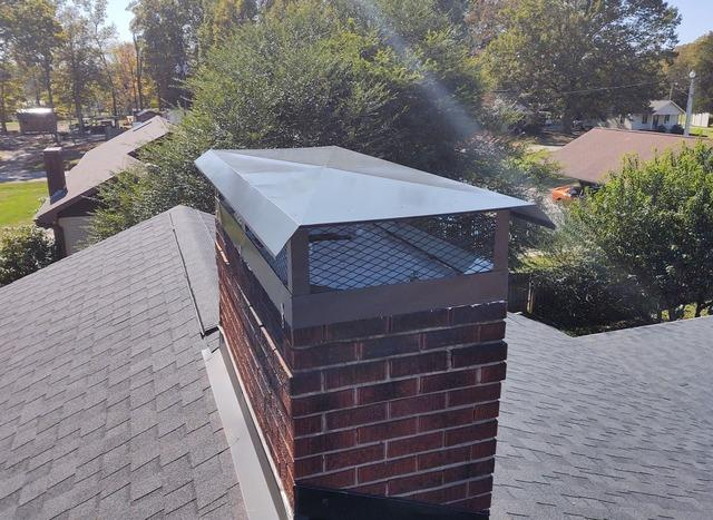 Replacing Old Chimney Cap in Mocksville, NC - After Photo