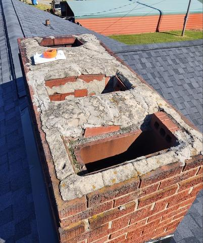 Replacing Old Chimney Cap in Mocksville, NC - Before Photo