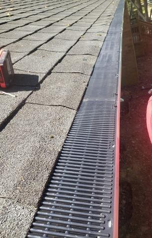 Gutter Guard Installation on Clogged Gutters in Winston-Salem, NC - After Photo