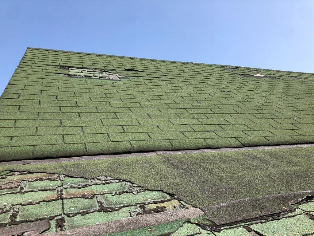 Richmond, Indiana Roof Replaced After Becoming Severely Damaged - Before Photo