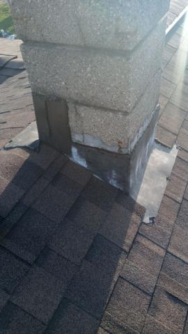 Before and After West Chester Chimney Flashing