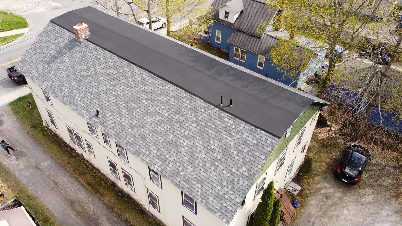 Lenox, MA Roof Replacement IKO Dynasty Castle Grey Shingles - After Photo