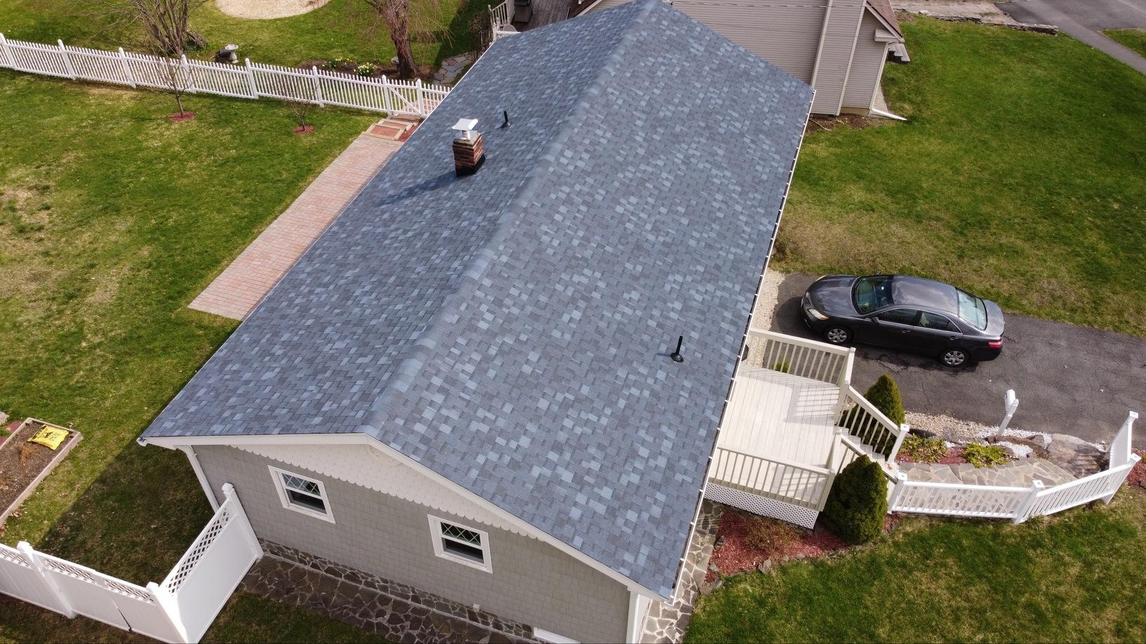 Lenox, MA Roof Replacement IKO Dynasty Atlantic Blue Shingles - After Photo