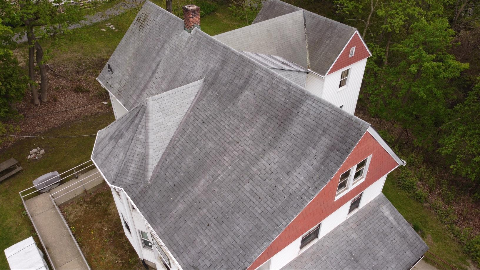 Great Barrington, MA Roof Replacement IKO Dynasty Granite Black Shingles - Before Photo