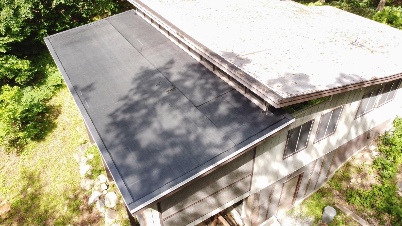 Klaus Flat Roof Replacement in Otis, MA - After Photo