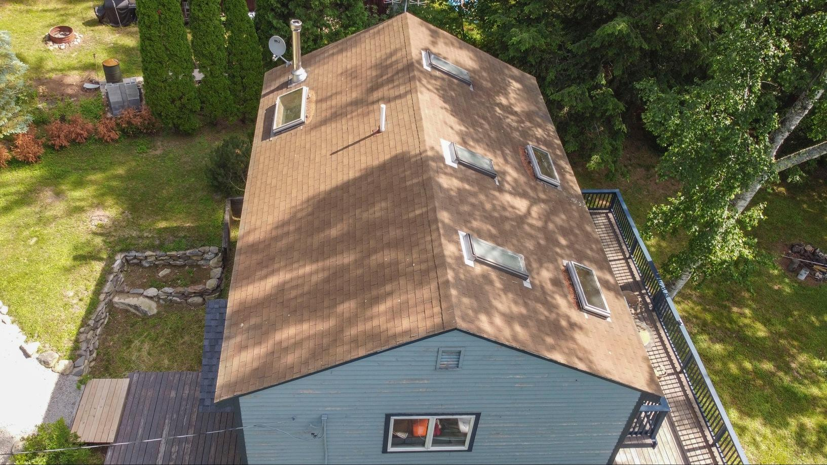 Klaus Total Roof Replacement with IKO Castle Grey Dynasty Shingles - Before Photo