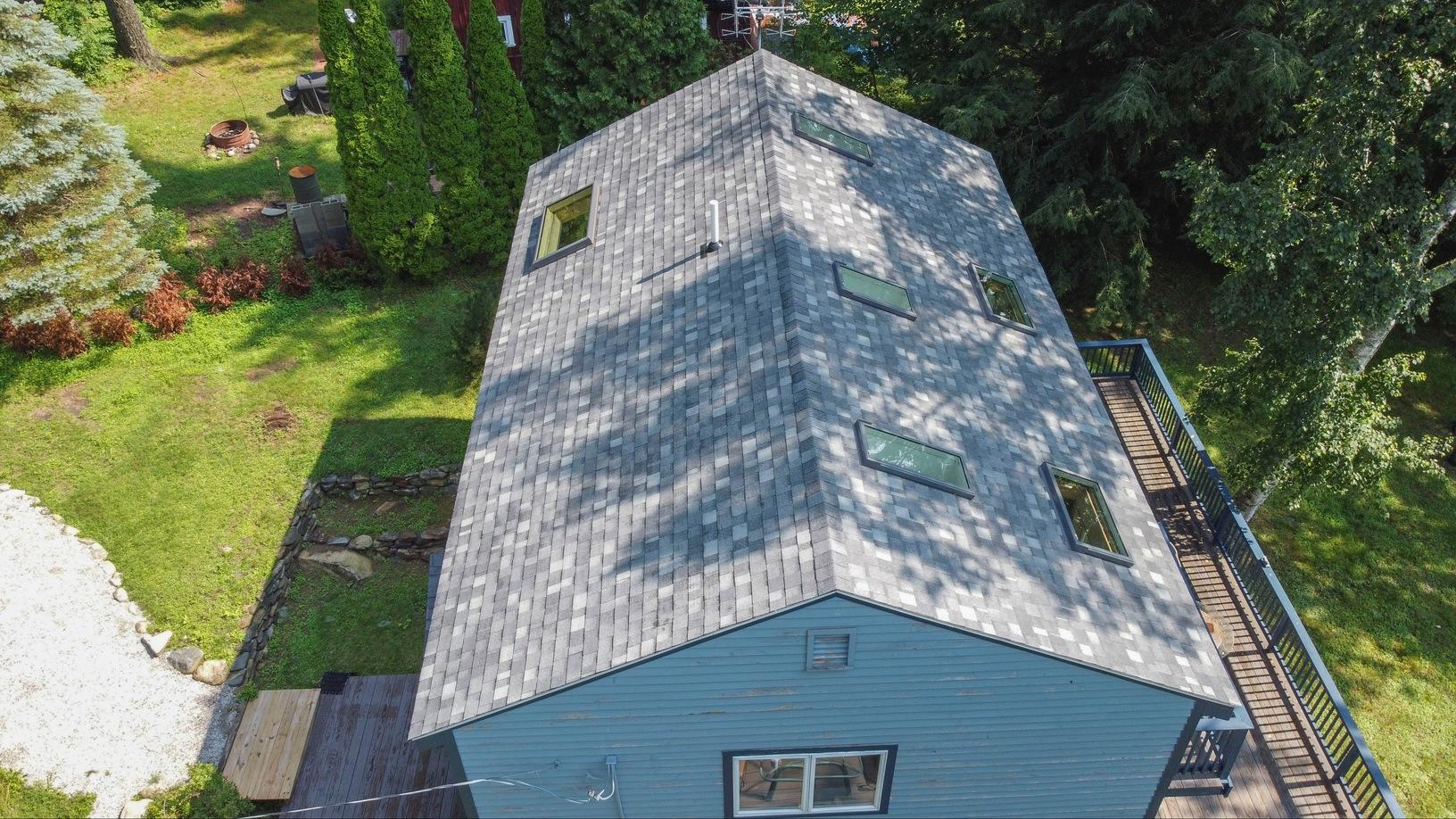 Klaus Total Roof Replacement with IKO Castle Grey Dynasty Shingles - After Photo