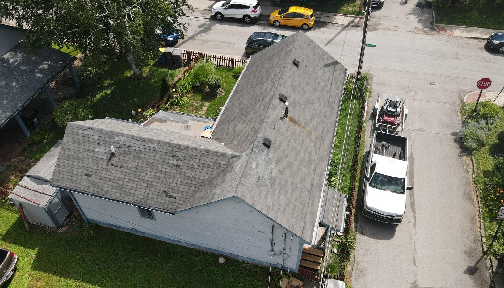 Full Roof Replacement in Indianapolis, IN - Before Photo