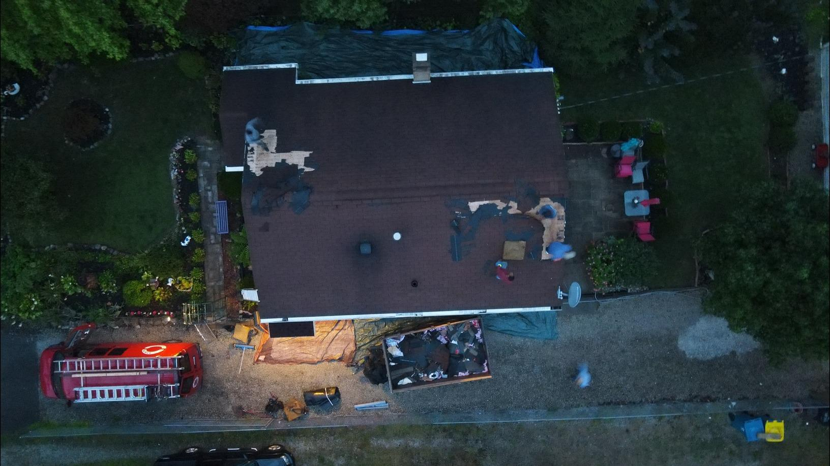 Total Roof Replacement in Indianapolis, IN - Before Photo