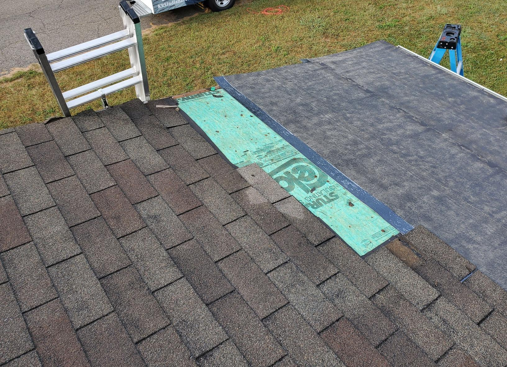 Roof Shingle Repair in Indianapolis, IN - Before Photo