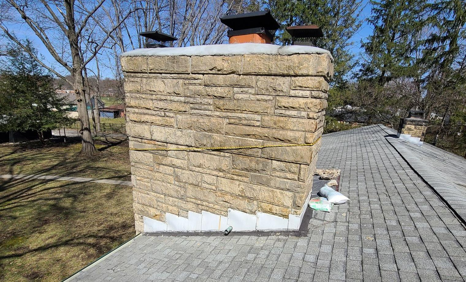 Chimney Flashing in Indianapolis, IN - Before Photo