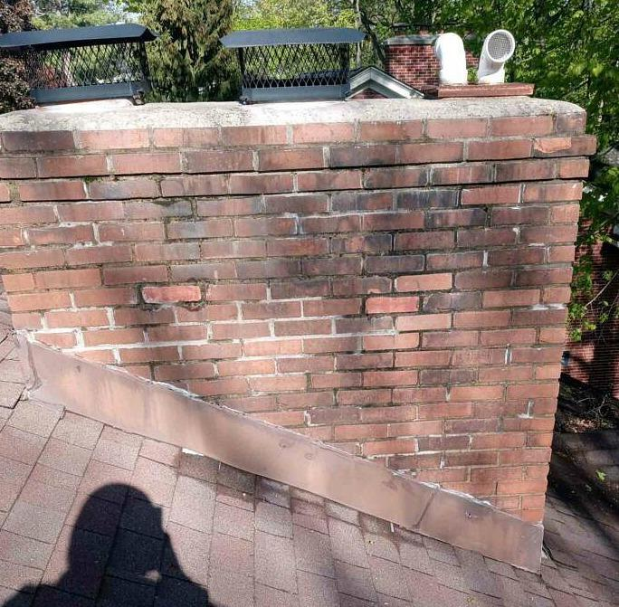 Chimney Flashing Repair in Indianapolis, IN - Before Photo