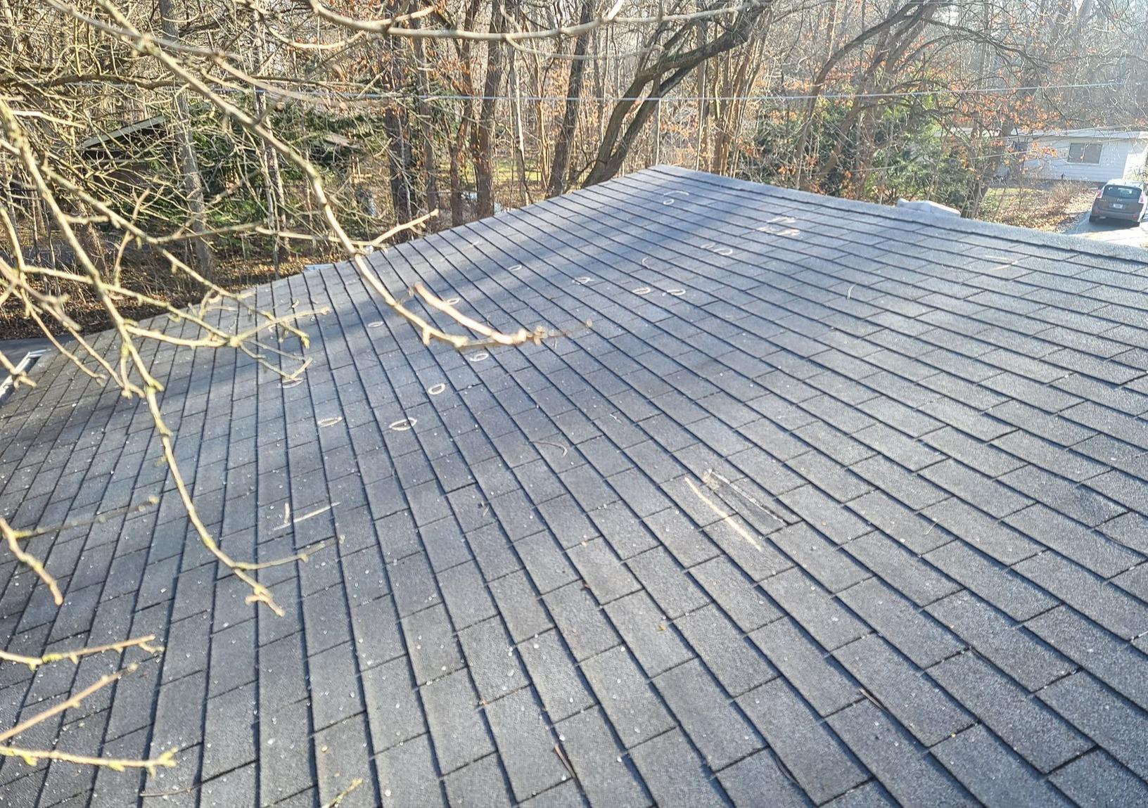 Asphalt Roof Replacement in Carmel, IN - Before Photo