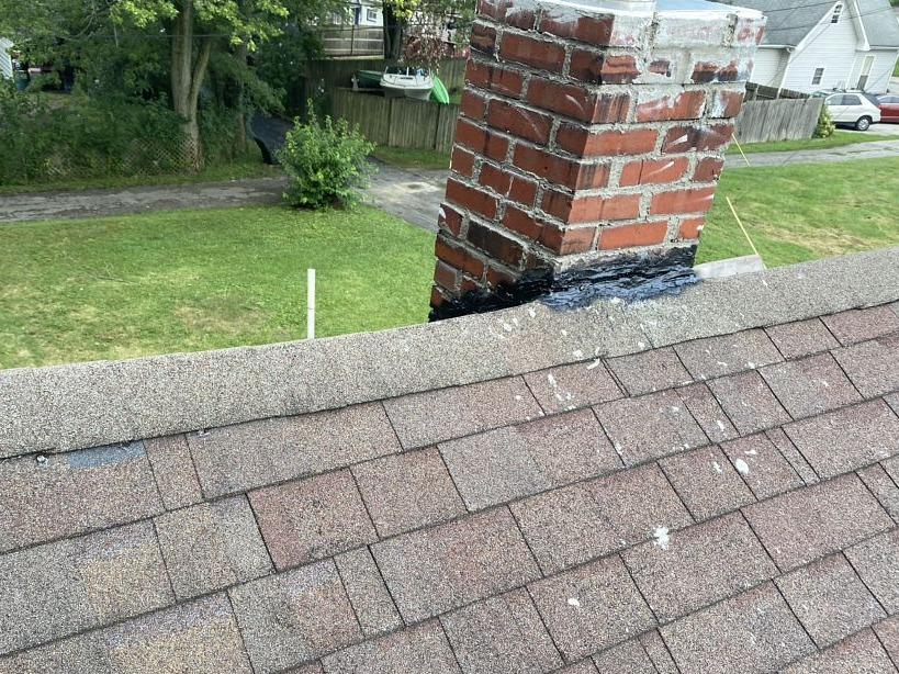 Chimney Flashing in Noblesville, IN - Before Photo