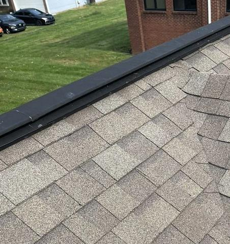 Ridge Vent Install in Indianapolis, IN - Before Photo