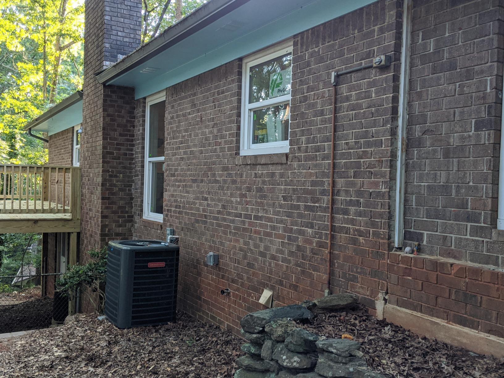 Athens, GA Radon Mitigation System - Before Photo