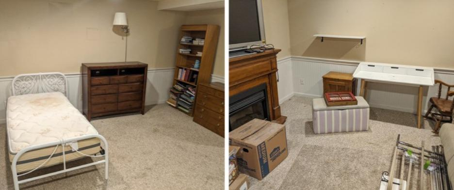 Furniture Removal in Malvern, PA - Before Photo