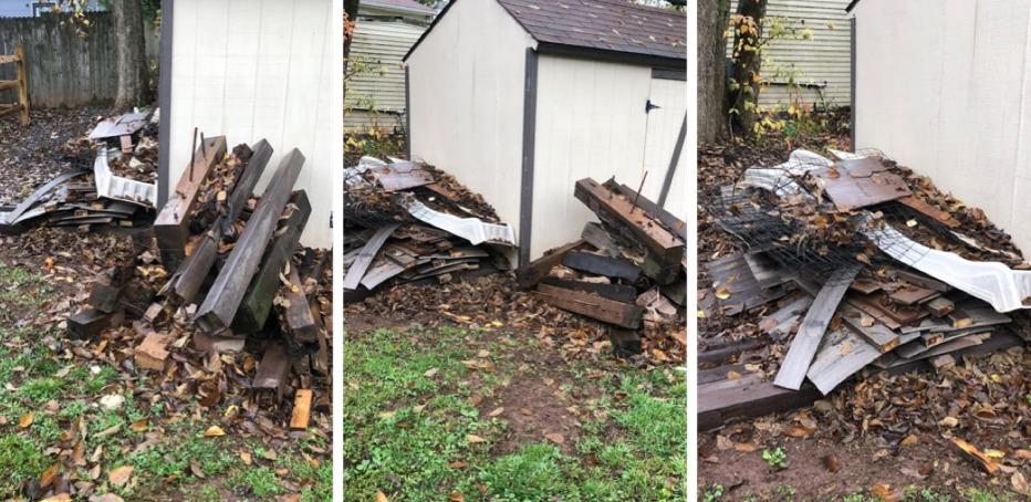 Declutter my backyard in Oxford, PA - Before Photo