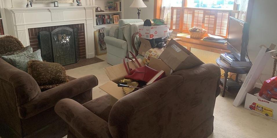 FURNITURE REMOVAL IN MANHASSET, NY - Before Photo