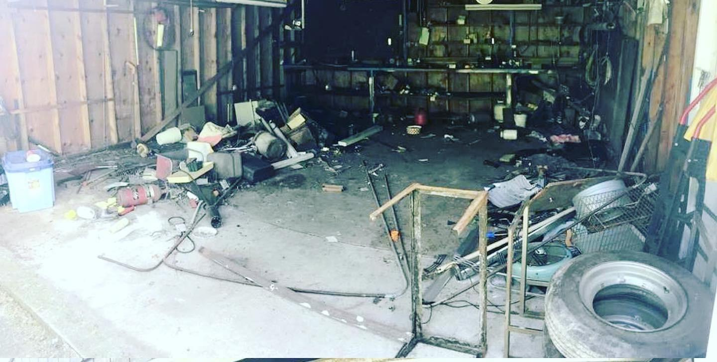 GARAGE CLEANOUT IN LOCUST VALLEY, NY - Before Photo