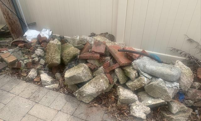 Yard Debris Removal In Northport, NY - Before Photo