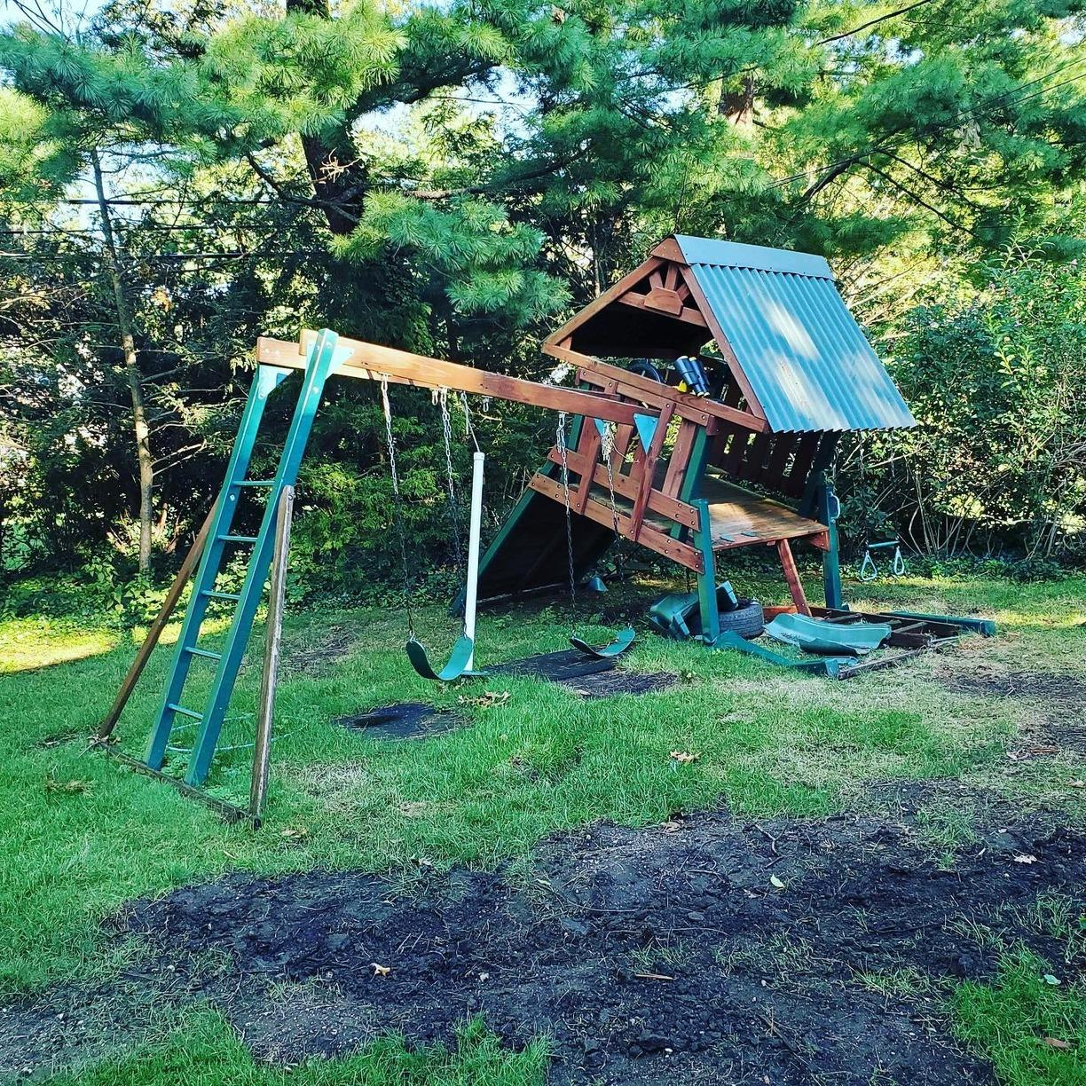 Playset Removal in Roslyn, NY - Before Photo