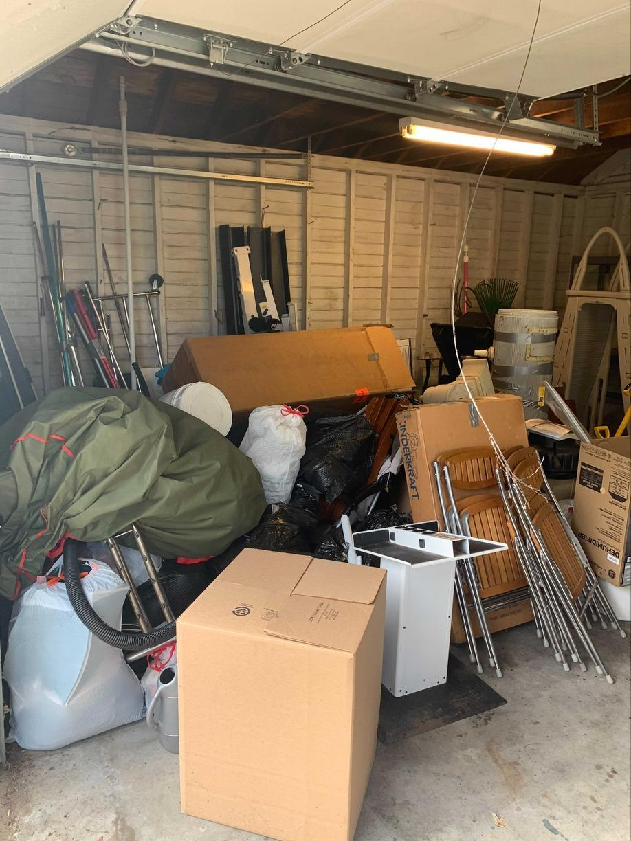Garage Cleanout in Baldwin, NY - Before Photo