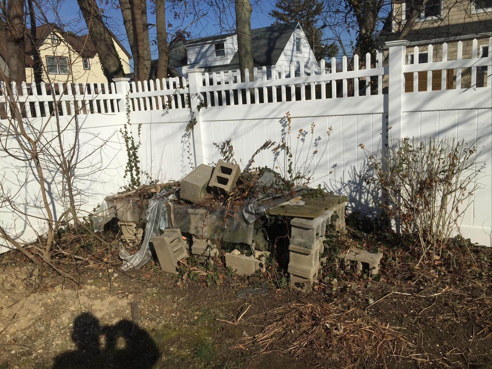 Cinder Block Removal in Bay Shore, NY - Before Photo